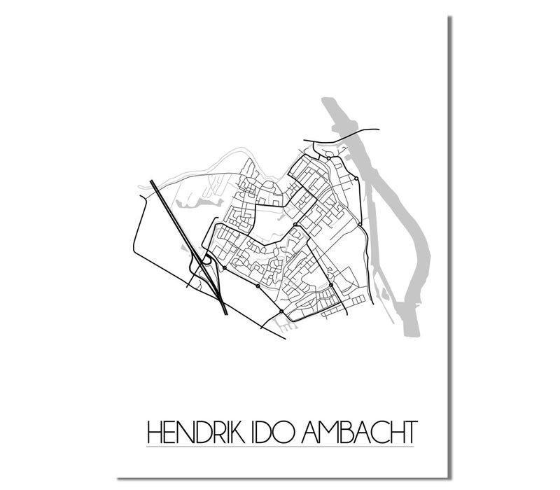 Hendrik Ido Ambacht Plattegrond poster