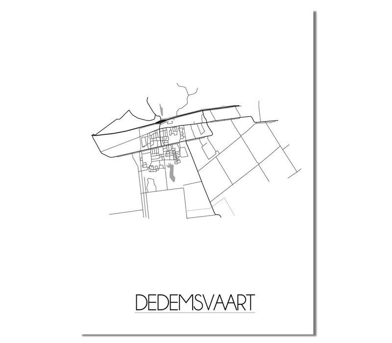 Dedemsvaart Plattegrond poster