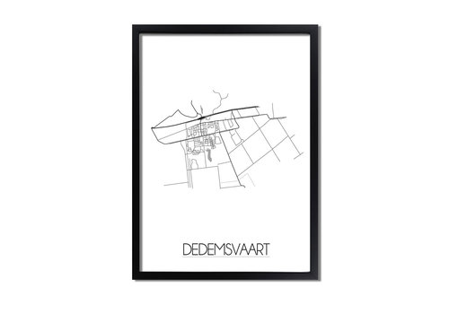 DesignClaud Dedemsvaart Plattegrond poster