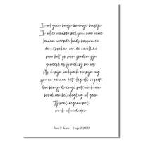 Huwelijksgeloften Poster - Trouwposter Huwelijkscadeau gepersonaliseerd