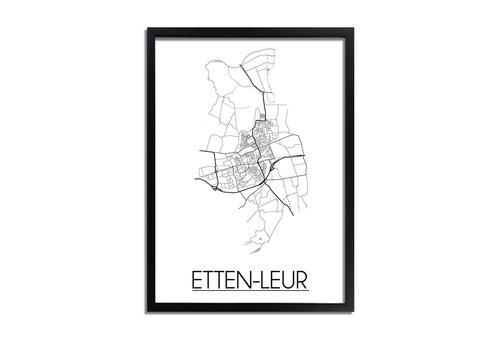 DesignClaud Etten-Leur Plattegrond poster