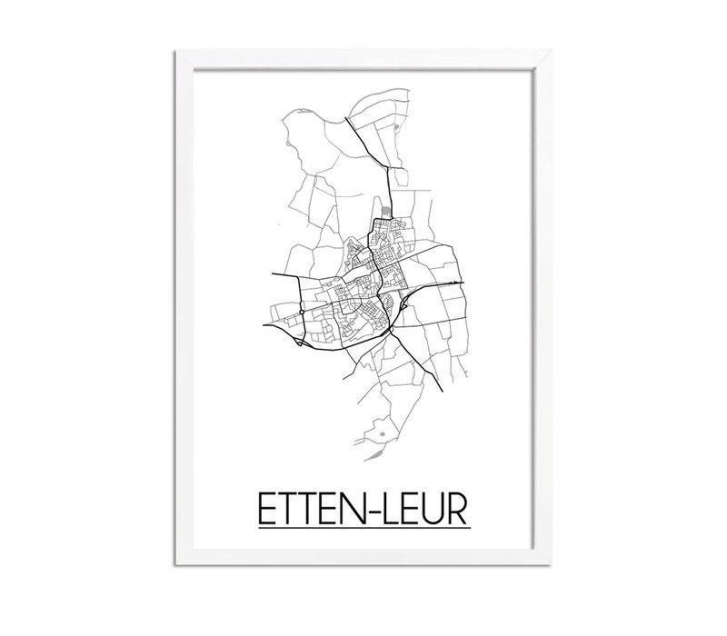 Etten-Leur Plattegrond poster
