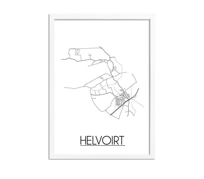 Helvoirt Plattegrond poster
