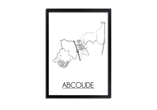 DesignClaud Abcoude Plattegrond poster