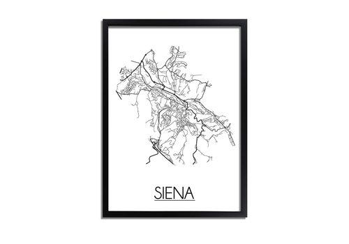 DesignClaud Siena Plattegrond poster