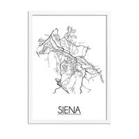 Siena Plattegrond poster
