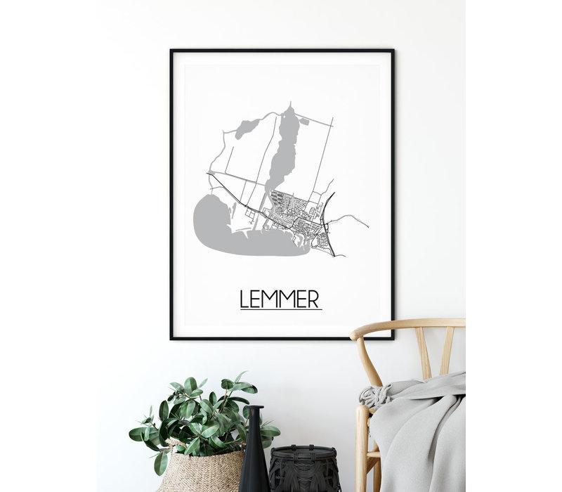 Lemmer Plattegrond poster