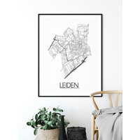 Leiden Plattegrond poster