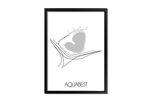DesignClaud Aquabest Plattegrond poster
