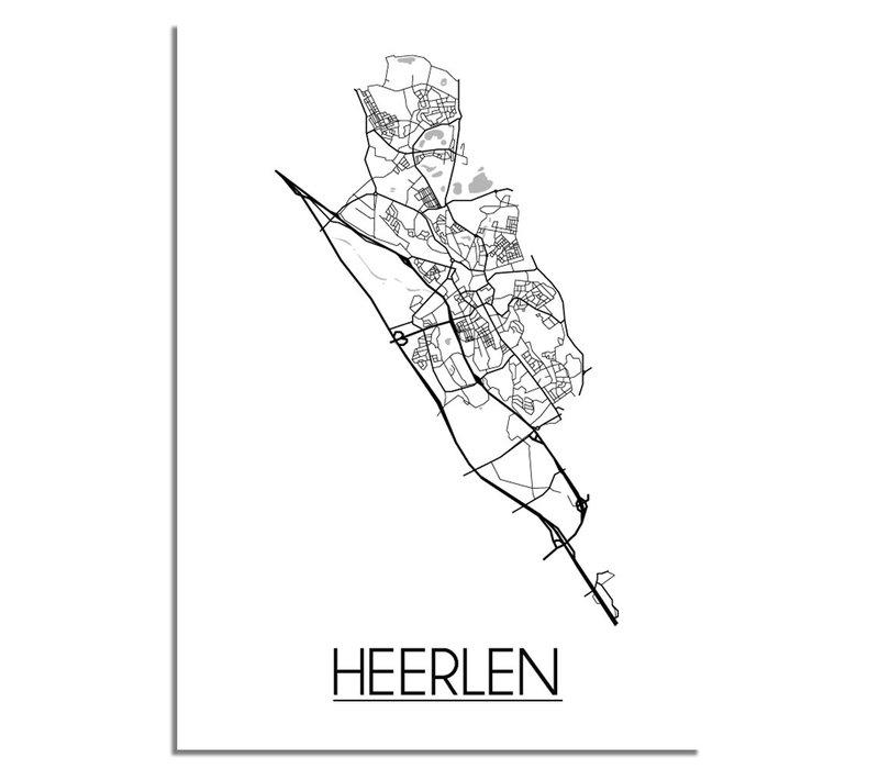 Heerlen Plattegrond poster