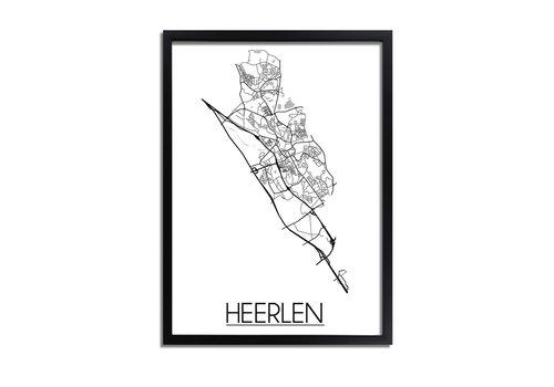 DesignClaud Heerlen Plattegrond poster