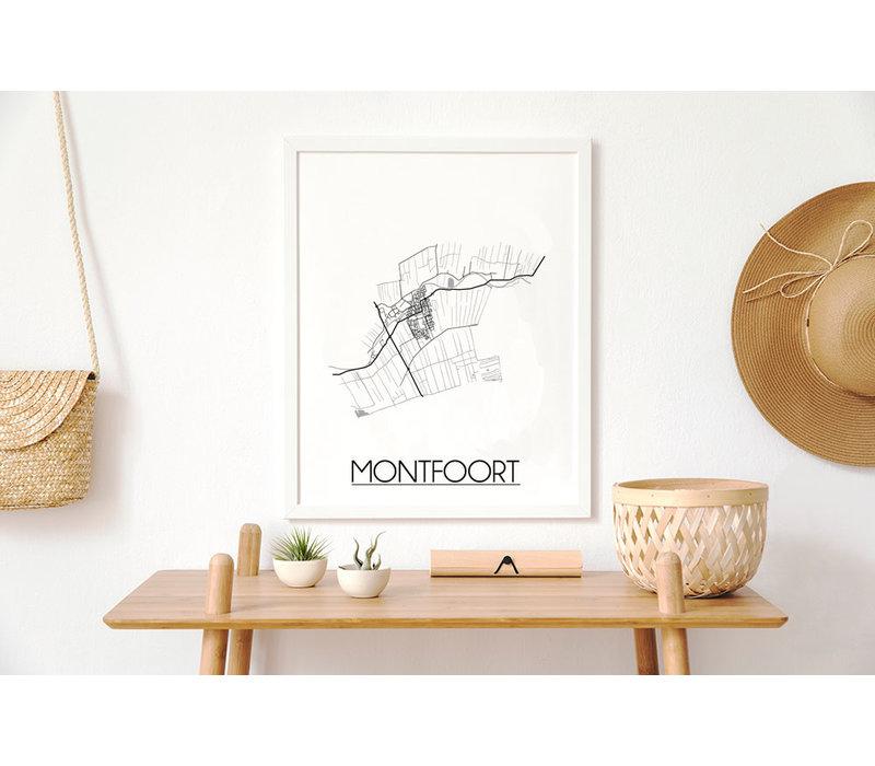 Montfoort Plattegrond poster