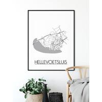 Hellevoetsluis Plattegrond poster