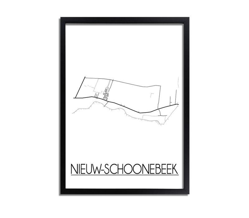 Nieuw-Schoonebeek Plattegrond poster