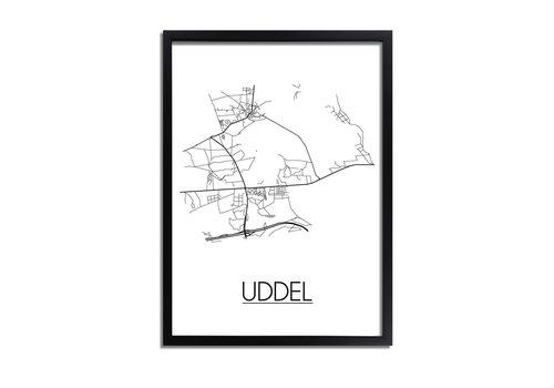 DesignClaud Uddel Plattegrond poster