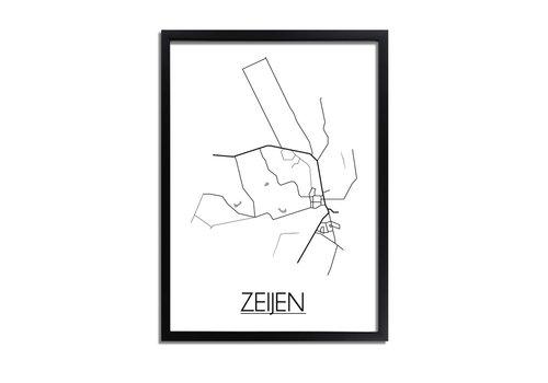 DesignClaud Zeijen Plattegrond poster