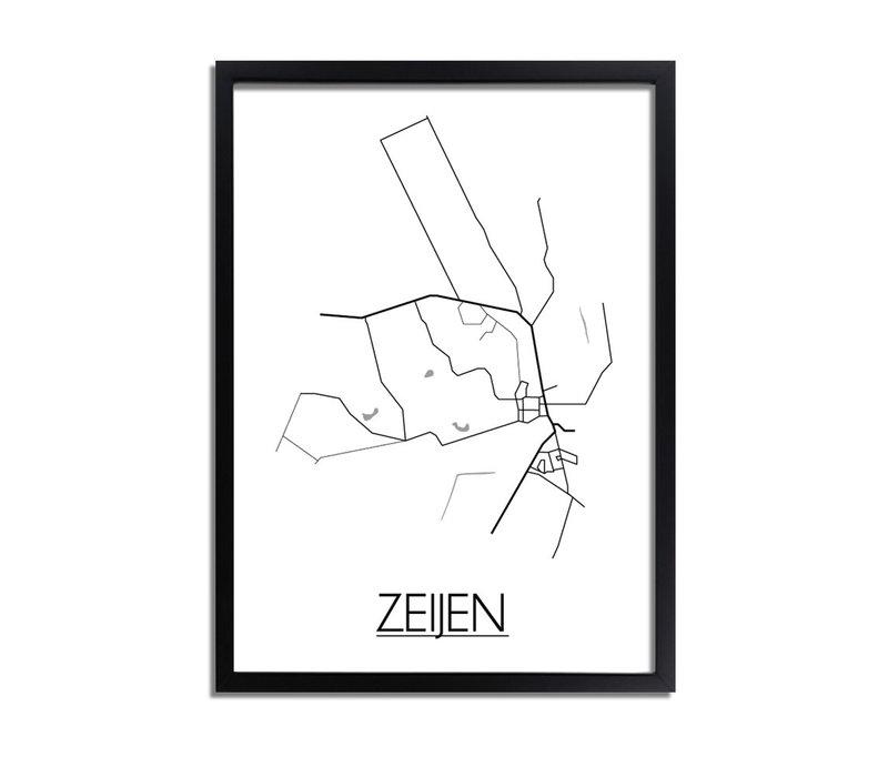 Zeijen Plattegrond poster