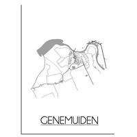 Genemuiden Plattegrond poster