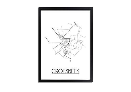 DesignClaud Groesbeek Plattegrond poster