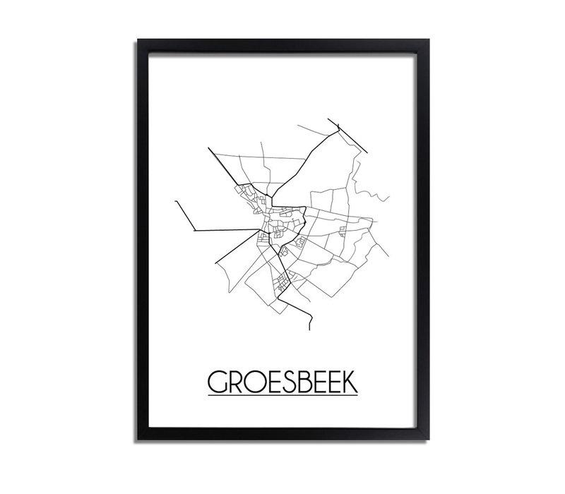Groesbeek Plattegrond poster