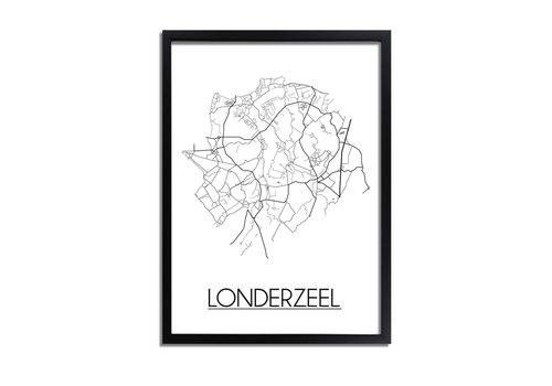DesignClaud Londerzeel Plattegrond poster