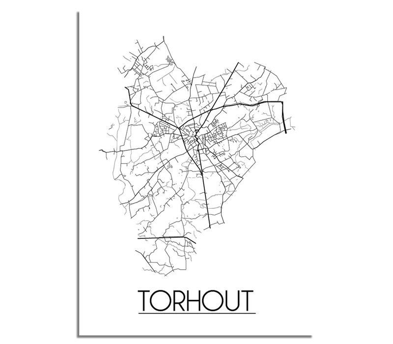 Torhout Plattegrond poster