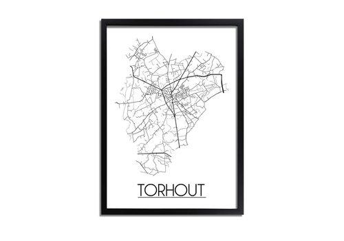 DesignClaud Torhout Plattegrond poster