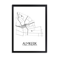 Almkerk Plattegrond poster