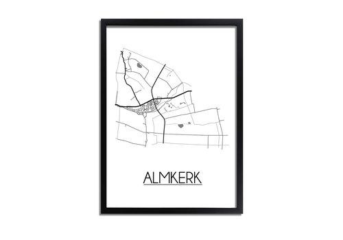 DesignClaud Almkerk Plattegrond poster