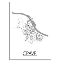 Grave Plattegrond poster