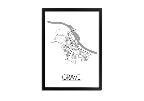 DesignClaud Grave Plattegrond poster