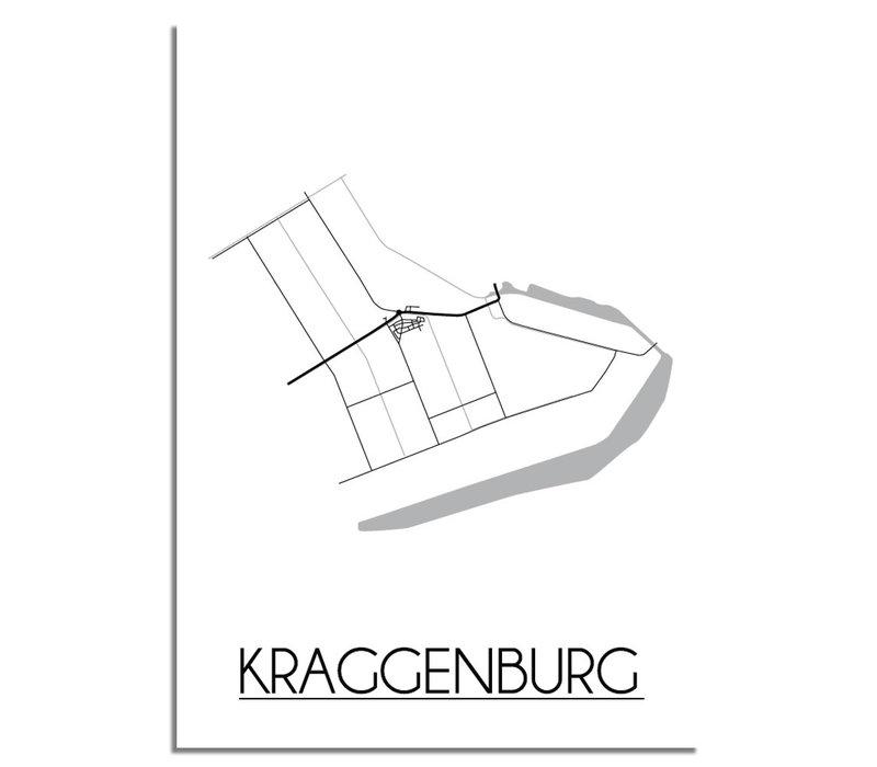 Kraggenburg Plattegrond poster