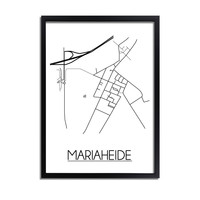 Mariaheide Plattegrond poster