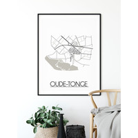Oude-Tonge Plattegrond poster