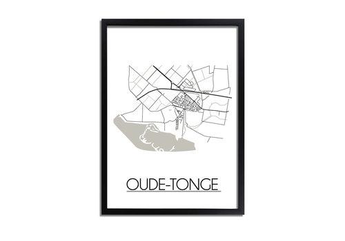 DesignClaud Oude-Tonge Plattegrond poster