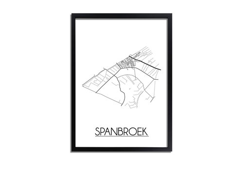 DesignClaud Spanbroek Plattegrond poster
