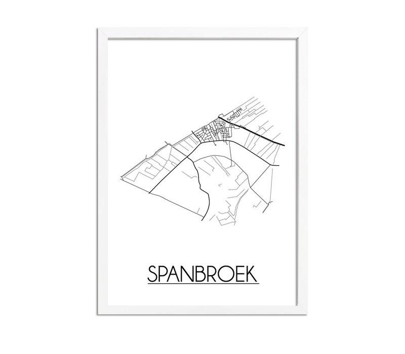 Spanbroek Plattegrond poster