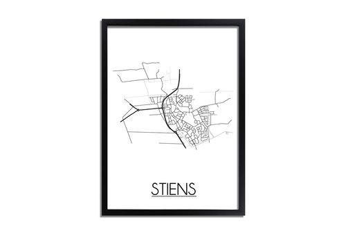 DesignClaud Stiens Plattegrond poster