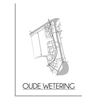 Oude Wetering Plattegrond poster