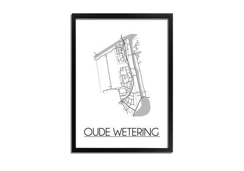 DesignClaud Oude Wetering Plattegrond poster