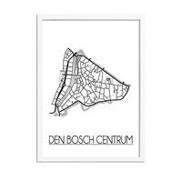 Den Bosch centrum Plattegrond poster