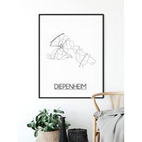Diepenheim Plattegrond poster