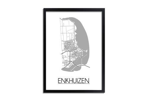 DesignClaud Enkhuizen Plattegrond poster
