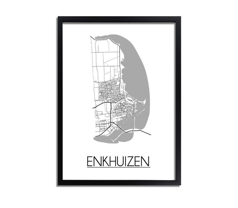 Enkhuizen Plattegrond poster