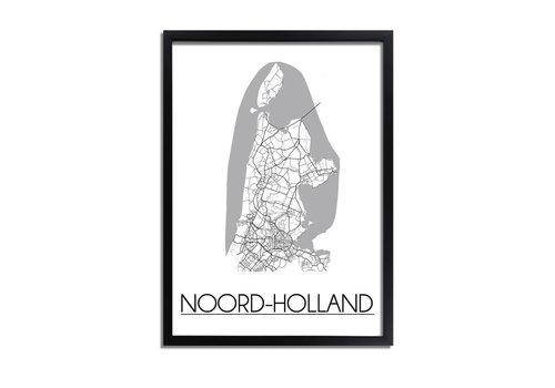 DesignClaud Noord Holland Plattegrond poster