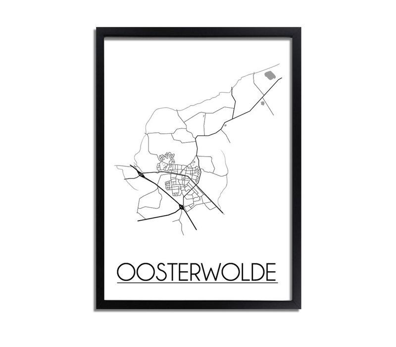Oosterwolde Plattegrond poster