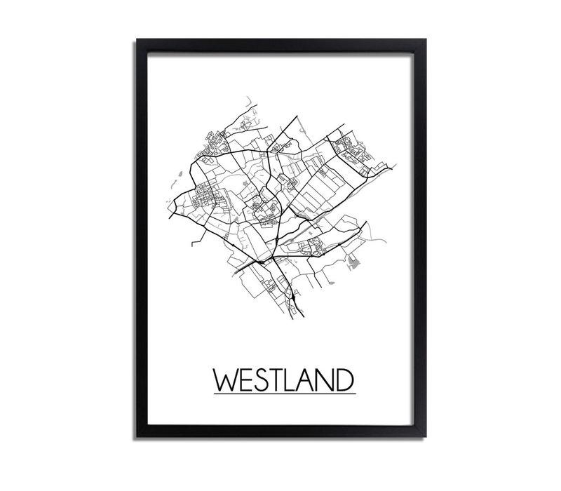 Westland Plattegrond poster