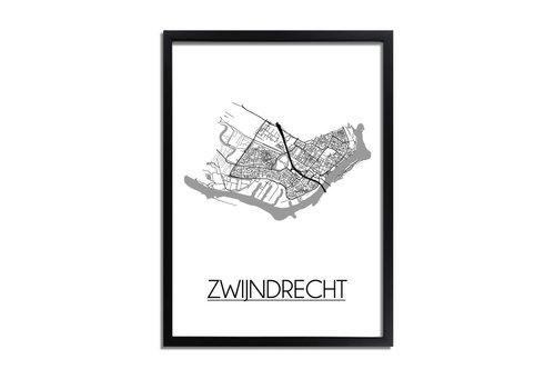 DesignClaud Zwijndrecht Plattegrond poster