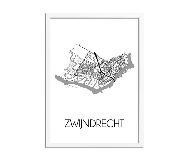 Zwijndrecht Plattegrond poster