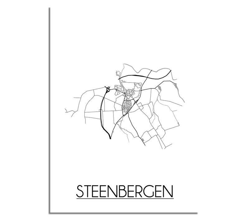 Steenbergen Plattegrond poster